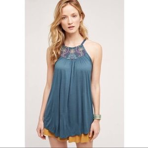 Anthropologie One September Taren Embroidered Top